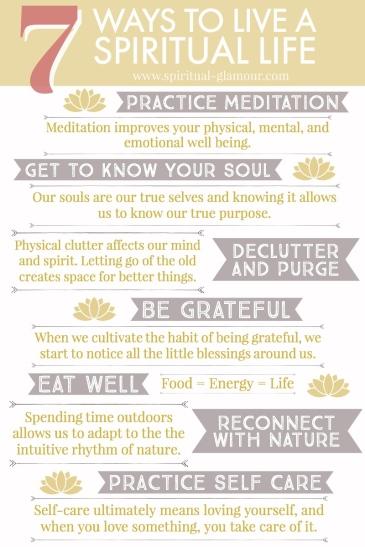 list of ways to live a spiritual life