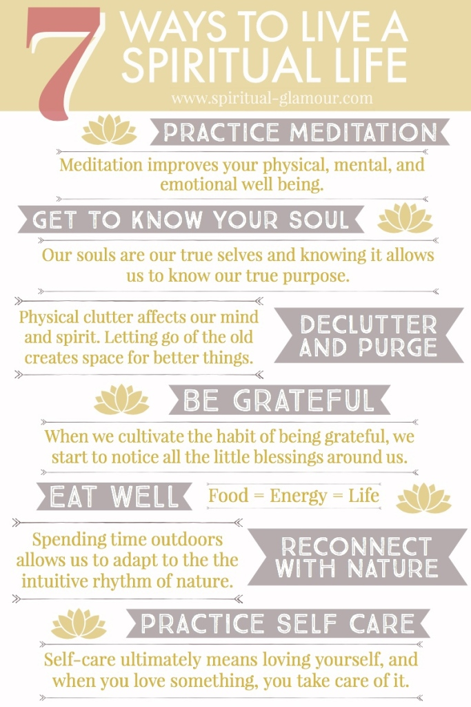list of ways to live a spiritual life