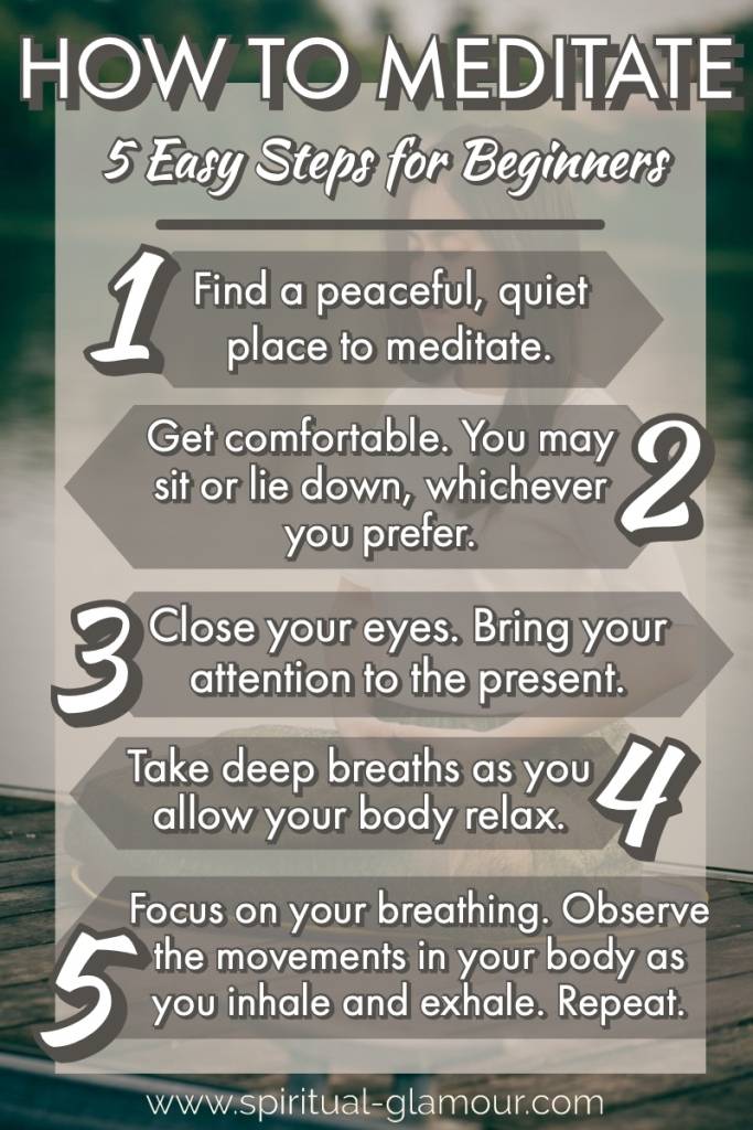 A list on How to Meditate Steps for Beginners